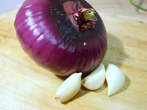Adobo onion and garlic