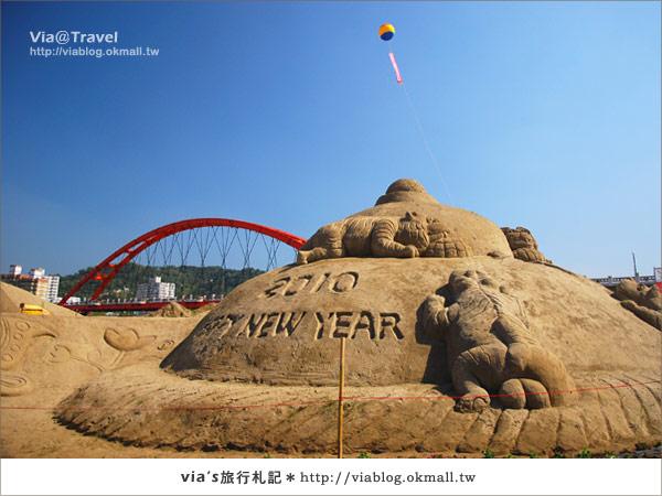 【2010春節旅遊】春節假期~南投市貓羅溪沙雕藝術節15