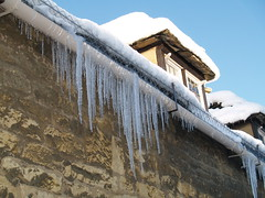 Icicles (mjpovey) Tags: uk winter england snow january cotswolds gloucestershire icicles chipping campden