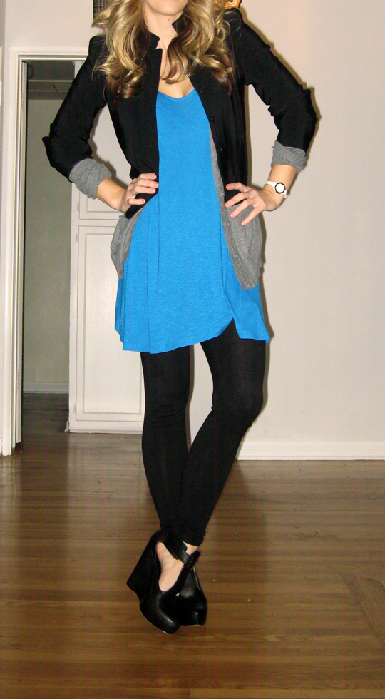 blue tunic black blazer-5
