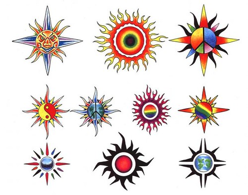 tatuagens de sol - fotos