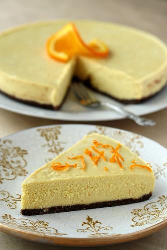 Raw Vegan Orange Cheesecake