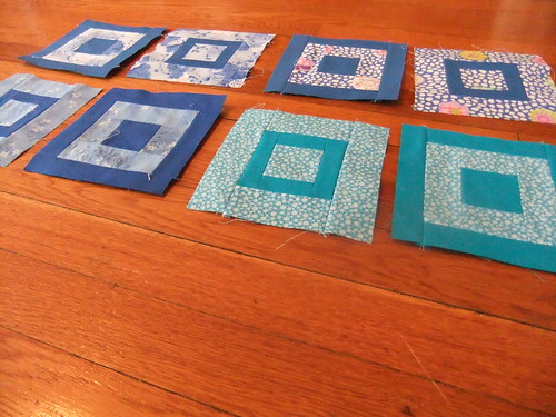 Paintbox quilt along blocks--blues