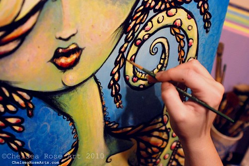 painting the sea witch