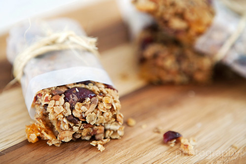 Chewy Orange Cranberry Granola Bars