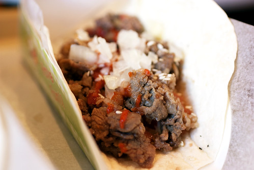 spicy bulgogi taco @ ny hotdog & coffee