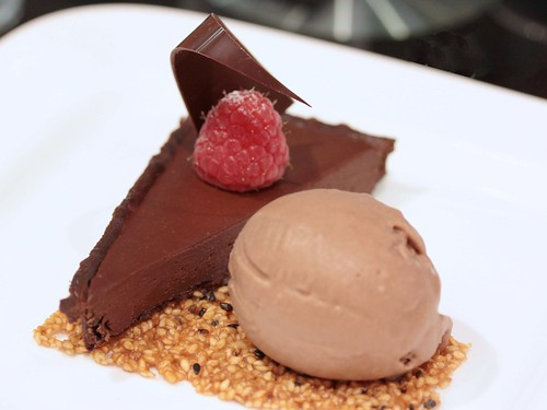 Chocolate Tart with Gianduja Hazelnut Ice Cream