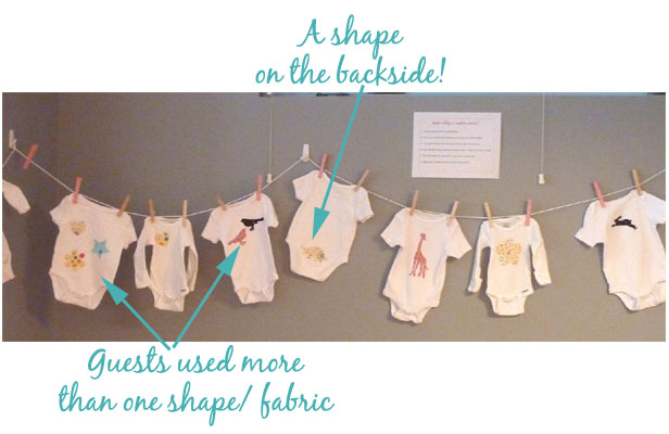 Baby Shower: Onesie Appliques