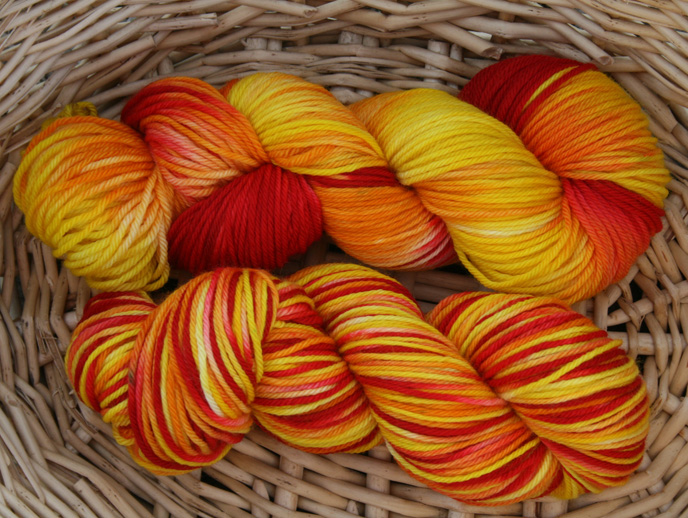 I am...not perfect- Fire on worsted superwash merino