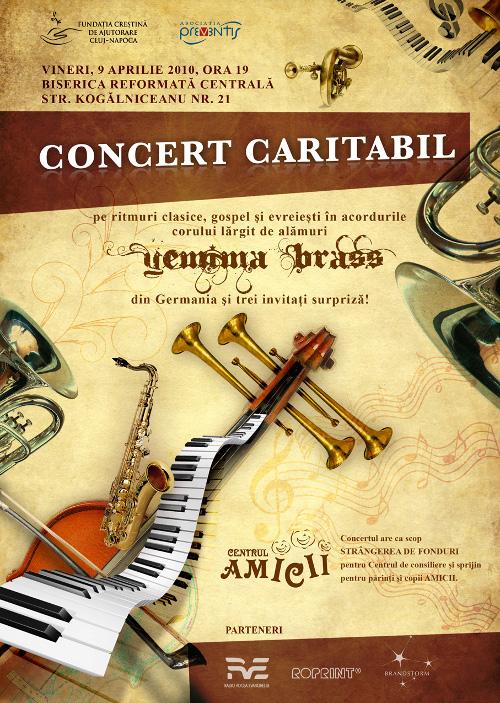 Concert caritabil: ritmuri clasice, gospel şi evreieşti cu Corul lărgit de alămuri YEMIMA BRASS din Germania