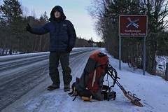 Hitchhiking the Northern Lights Route in northern Norway in winter_5000px (Wildernesscapes Photography) Tags: winter norway finland europe adventure desperate unknown hitchhiking roadside wintertime scandinavia northern harsh hardy adventureous northernlightsroute nordlysvegen