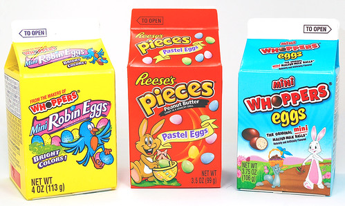 Milk Carton Reese's, Whoppers, Robin Eggs