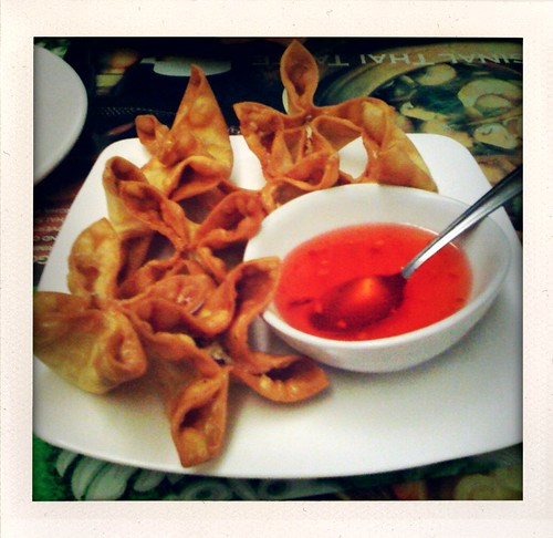 Food: Cream Cheese Wontons @ Wirin Thai