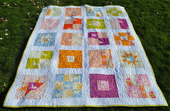 Far Far Away quilt (Lucy & Norman) Tags: fairytale quilt sewing unicorn farfaraway heatherross kokka doublegauze