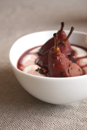 Pears in red wine III