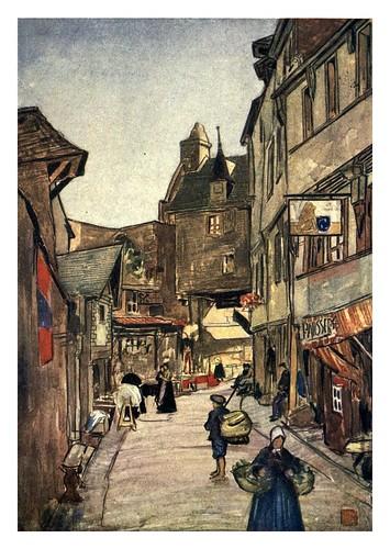 004-Una calle en el Monte San Michel-Normandy-1905- Ilustrado por Nico Jugman