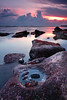 Rolling stone gather no moss. (tropicaLiving - Jessy Eykendorp) Tags: nature sunset landscape seascape tropicaliving bali indonesia canon lee hitech reverse outdoor photography
