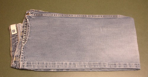 Fold Jeans in Half