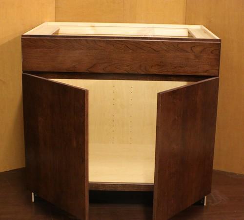 Kraftmaid Cherry Kitchen Vanity Sink Base Cabinet Ebay