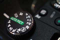 PENTAX mode manuel appareil photo molette réglage