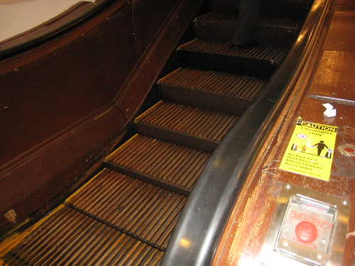 Macys wooden escalators.