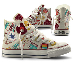 Pop Shoe (mathiole) Tags: vintage retro tennis popart converse allstar