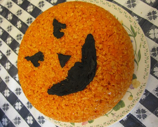 Pumpkin Rice Krispy Treat