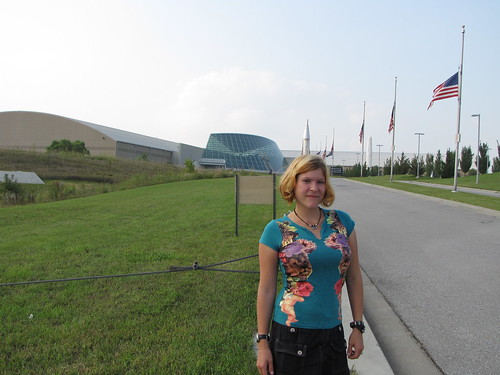 Becky outside the Strategic Air Defense Museum