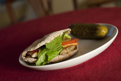 Veggie Burger on Mini-Pita