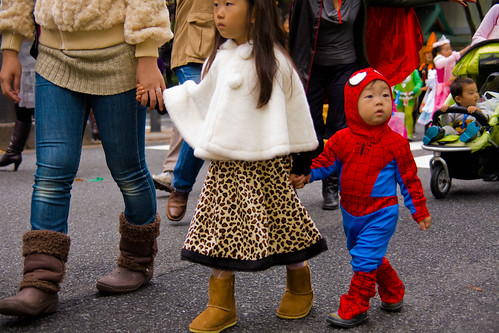 """Will-Grow-Into-it-Next-Year"" Spiderman Costume,-Halloween-Parade by Buz Carter."