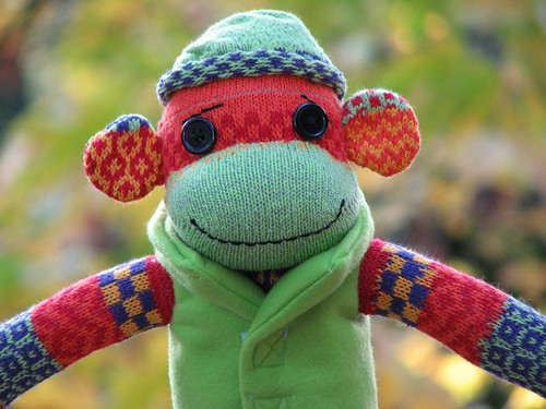 Super Bright Sock Monkey!