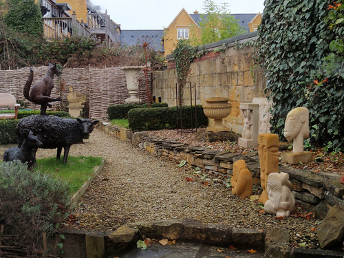 Backyard of a Gallery in Broadway, England