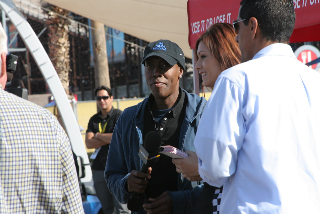 Arsenio Hall checks out the midway at PIR on Saturday