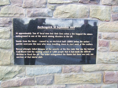 Auchengeigh miner's memorial 7