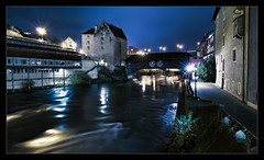 Baden, Switzerland ('PixelPlacebo') Tags: night baden aargau yellowblue splittoning argovia 5milesaroundmyhome