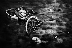 (Effe.Effe) Tags: bw monochrome bike bicycle mood mud bn abandon forsaken bicicletta fango dismiss bwdreams oldschooldigital