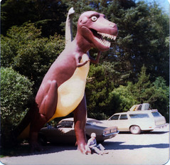 Dinosaur!!! (Great Beyond) Tags: road trip travel film tourism gardens oregon port way square high highway scenery open view dinosaur image or side scenic roadtrip tourist hwy 101 squareformat views americana openroad oregoncoast interstate roadside prehistoric touristtrap trap trex 1976 highway101 tyrannosaurus orford tyrannosaurusrex portorford nowandthen prehistoricgardens offtheinterstate latent ushighway101 goldbeach roadgeek nowthen evnelson latentimage goldbeachoregon openroads ontheopenroad noticings