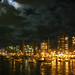 Punta del Este harbor at night
