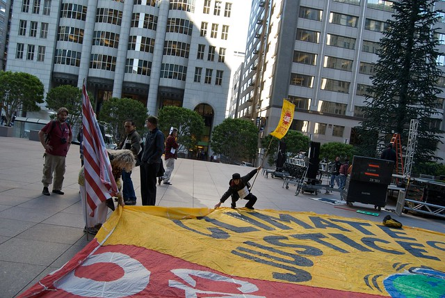 N30 climate justice blockade of Bank of America in San Francisco by Steve Rhodes