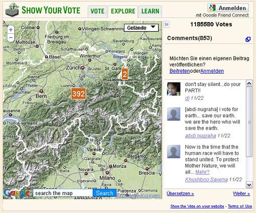 EarthHour-Unterstützung Schweiz/Liechtenstein