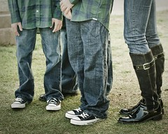 family portrait (strph) Tags: family kids boots jeans atwork 2009 chucks clients