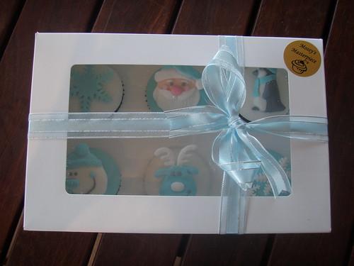 Mossy é obra-prima - Baby Meninos primeiro presente de Natal bolinhos encaixotado