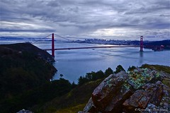 Golden Gate Bridge, Marin Headlands, California - U.S.A. (Rich Capture) Tags: ocean sanfrancisco california road trees sky bw usa storm water clouds america sunrise canon eos oakland rocks pacific boulders richard baybridge bayarea iphoto alcatraz polarizer marinheadlands tms riceworld tellmeastory ef2470mmf28l 5dmark2 richardmatyskiewicz matyskiewicz