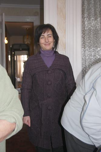 Marga's new cardigan