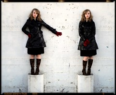 Caryatids (Studio d'Xavier) Tags: fashion diptych pedestals whitespacewednesday theblackslickersession