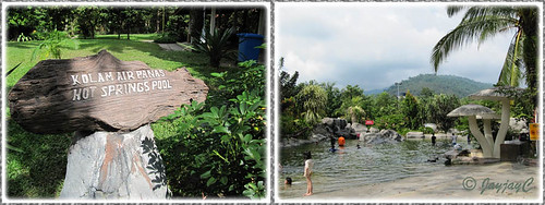 Natural Hot Spring Pool at Felda Residence Hot Springs, Sungkai