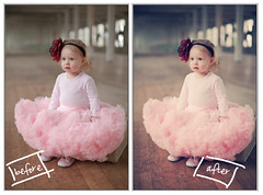 I love Florabella Actions :) (Brandy Jaggers) Tags: urban flower girl photoshop toddler warehouse tutu pettiskirt beforeafter lightroom postprocessing naturallightkids sigma50mmf14 canon5dmii florabellaactions
