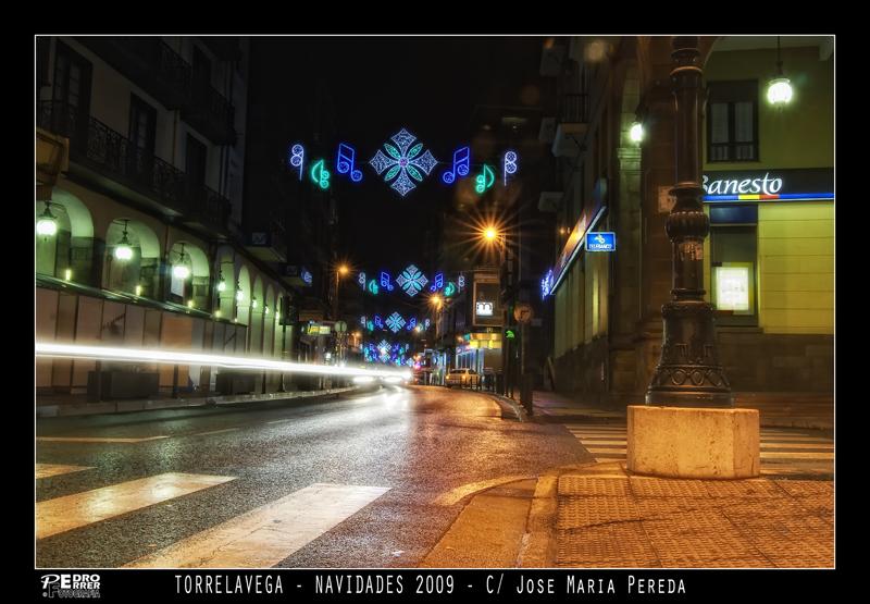 Torrelavega - Calle Jose María Pereda - Navidades 2009