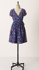 Blooming Sapphire Wrap Dress from Anthropologie