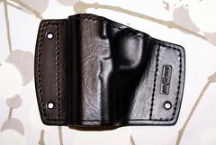 Colt 1911 Black leather car holster